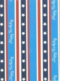 Wrapping Paper, Happy Birthday Star Bangled Banner