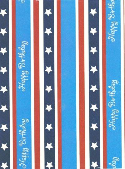 画像1: Wrapping Paper, Happy Birthday Star Bangled Banner