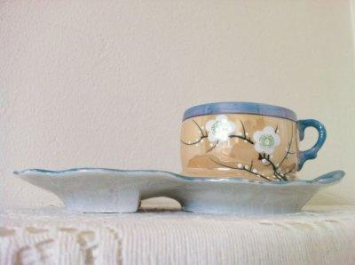 画像3: 里帰りオールドジャパン 瀬栄陶器(瀬戸) サクラ印 推定1920年〜1930年頃  ラスター彩 カナッペセット 3組セット