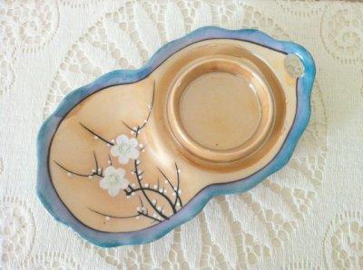 画像2: 里帰りオールドジャパン 瀬栄陶器(瀬戸) サクラ印 推定1920年〜1930年頃  ラスター彩 カナッペセット 3組セット