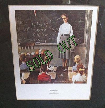 画像2: sold ノーマン・ロックウェル 新品デッドストック アートフレーム 「サプライズ(1956年)」