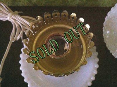 画像4: sold ビンテージ・ミルクグラス・ホブネイル・ランプ