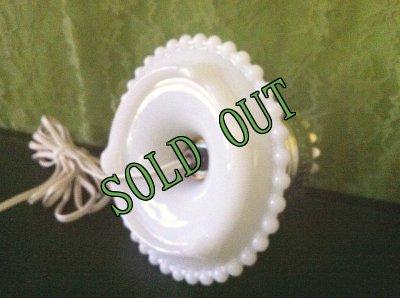 画像5: sold ビンテージ・ミルクグラス・ホブネイル・ランプ