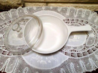 画像3: コーニングウエア スパイスオブライフ エシャーロット(1972年-不明)超耐熱ガラス食器パイロセラム スキレット/片手ハンドル付パン  ガラス蓋付