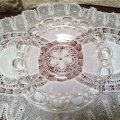 FireKing, PinkGlass, Lace Edge DinnerPlae