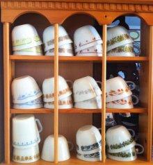 他の写真1: パイレックス オールドタウンブルー ミルクグラス ぽってりカップ