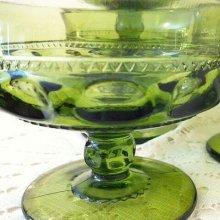 他の写真1: インディアナグラス サムプリント/キングスクラウン グリーン・シャーベットグラス