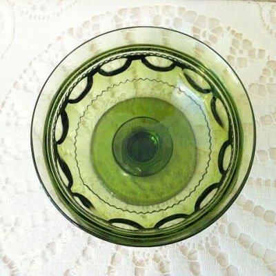 画像3: インディアナグラス サムプリント/キングスクラウン グリーン・シャーベットグラス