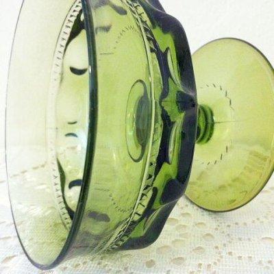 画像4: インディアナグラス サムプリント/キングスクラウン グリーン・シャーベットグラス