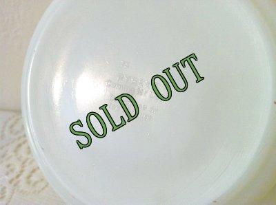 画像5: sold パイレックス オールドタウンブルー ミルクグラス バター・タブ・ディッシュ フタつき