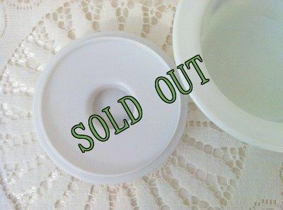 画像4: sold パイレックス オールドタウンブルー ミルクグラス バター・タブ・ディッシュ フタつき