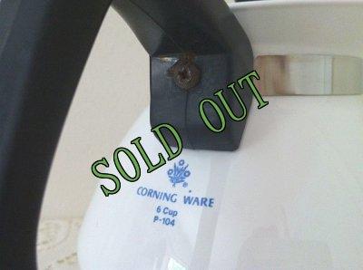 画像4: sold コーニングウェア ブルーコーンフラワー 6カップ ティーポット(黒蓋)
