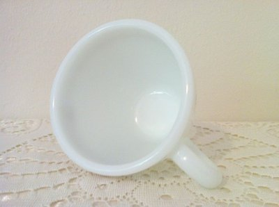 画像3: パイレックス ミルクグラス シグネティクス社ノベルティーカップ