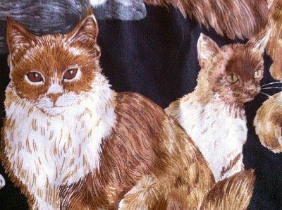 画像2: ビンテージ・ランチョンマット 猫 その4