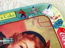 他の写真1: sold コカコーラ 1953年ビンテージ・ブリキ(ティン)トレイ 「メニューガール」