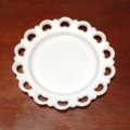 Anchor Hocking, Old Colony, Milk Glass Lace Edge Plate