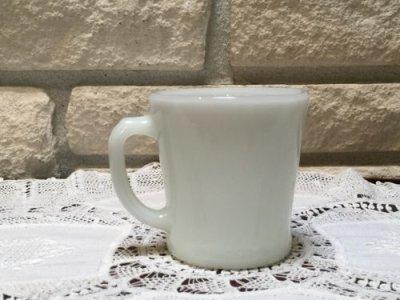 画像2: アンカーホッキング ミルクグラス Dハンドルマグ ホワイト その4