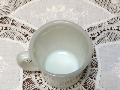 画像3: アンカーホッキング ミルクグラス Dハンドルマグ ホワイト その4