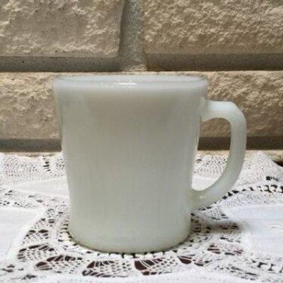 画像1: アンカーホッキング ミルクグラス Dハンドルマグ ホワイト その4