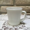 Anchor Hocking,  Milk Glass White D-handle Mug #3
