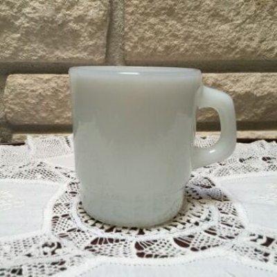 画像1: アンカーホッキング ミルクグラス スタッキング・マグカップ ホワイト