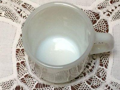 画像2: アンカーホッキング ミルクグラス スタッキング・マグカップ ホワイト