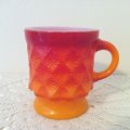 激安!Fire King, Kimberly, Red and Orange Mug