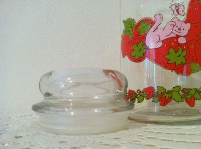 画像2: アンカーホッキング ストロベリーショートケーキ ガラスキャニスタージャー(大)