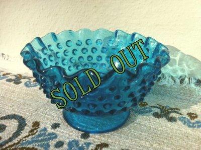 画像2: sold フェントン ブルー・ホブネイル キャンドルホルダー
