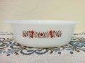 Fire King, Primrose 1960-1962, Milk Glass Casserole 1 1/2 QT
