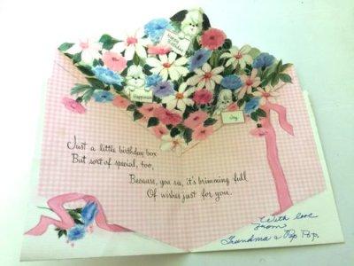 画像2: Vintage Pink Birthday gift Card / Used Hallmark