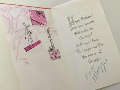 画像3: Vintage 7 years Birthday Card / Used Charm Craft Inc.