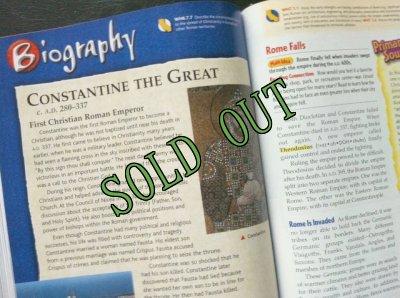 画像4: sold 洋書{アメリカンスクール6年生教科書}「古代文明」 カリフォルニア版 2006年 ハードカバー Glencoe/Mcgraw-Hill 刊