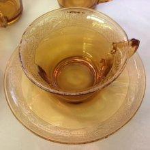 """他の写真1: Cambridge Glass, #703 """"Florentine"""" late 1920s AS IS #3"""