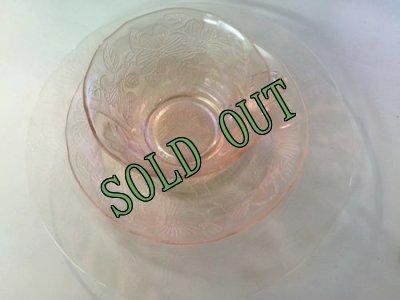 画像3: sold マクベスエバンズ ピンクディプレッショングラス ドッグウッド トリオ 1930-1934年 その1