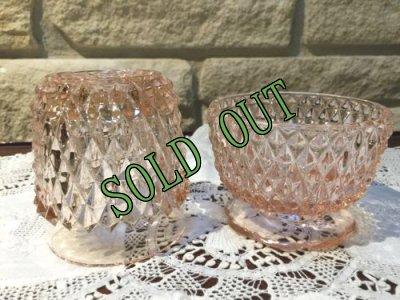 画像3: sold インディアナグラス ピンクのフェアリーランプ キャンドルホルダー