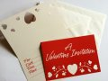 NEW Hallmark, 2 Valentine Invitation Cards Set