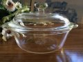 Fire King, Clear Casserole  Small  1 PT(=500ml)with Cover