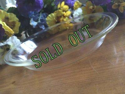 画像1: sold 【限定奉仕品】パイレックス オーブンウェア クリアガラス パイプレート