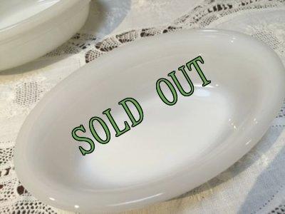 画像1: sold グラスベイク ミルクグラス キャセロール (S)