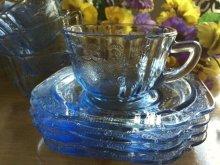 他の写真3: インディアナグラス マドリッド ブルー カップ&ソーサー