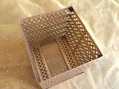 画像5: ビンテージ・ゴールドメタル・フィリグリー ティッシュボックス・カバー