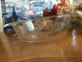 Fire King, Clear Casserole  1 QT, 1960'-1970' AS IS