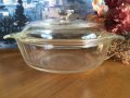 Fire King, Clear Casserole  1 QT with Cover, 1960'-1970' AS IS