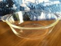 Fire King, Clear Oval Casserole  1 1/2 QT, 1940'