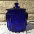 1977 Collectable Cobalt Blue Mayfair Cookie Jar