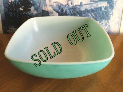 画像1: sold パイレックス オーブン・アンド・テーブル ラージボウル ターコイズ 2 1/2クウォート(約1900ml) 1950年代