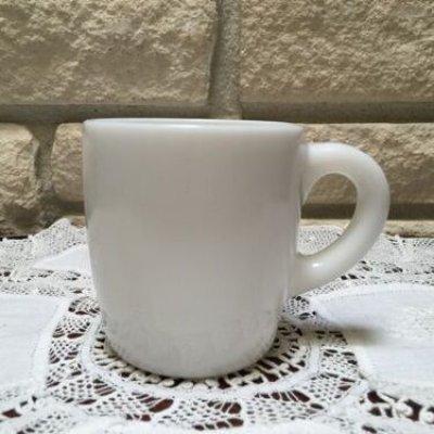 画像1: ヘイゼルアトラス ミルクグラス バレルマグ 白