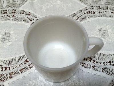 画像2: フェデラル ミルクグラス Dハンドルマグ 白