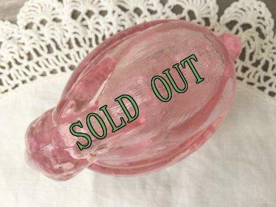 画像4: sold Indiana Glass, Bunny / Rabbit on a Nest Candy Dish, Pink